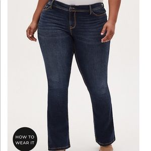 NWT Dark Boot cut jeans torrid